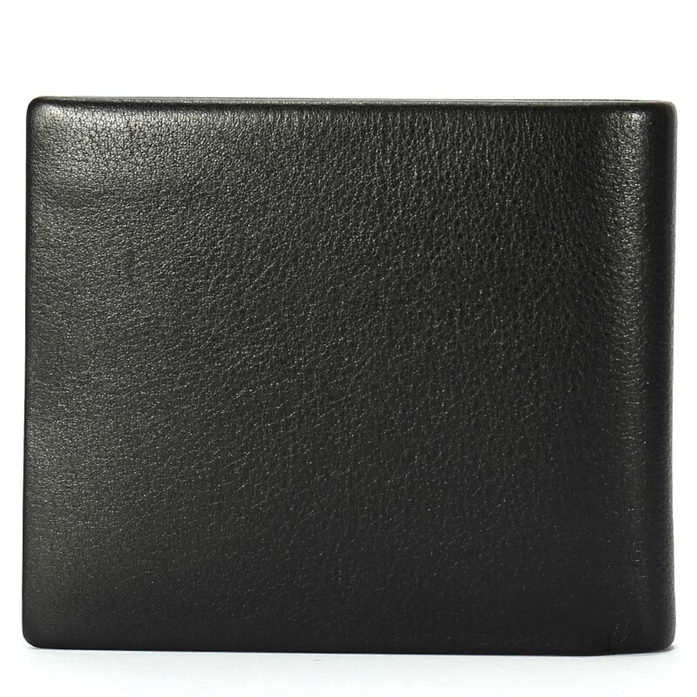 Mens Long Wallet Leather Wallet Simple Fashion Black Backpack Color : Black YONGMEI Wallet