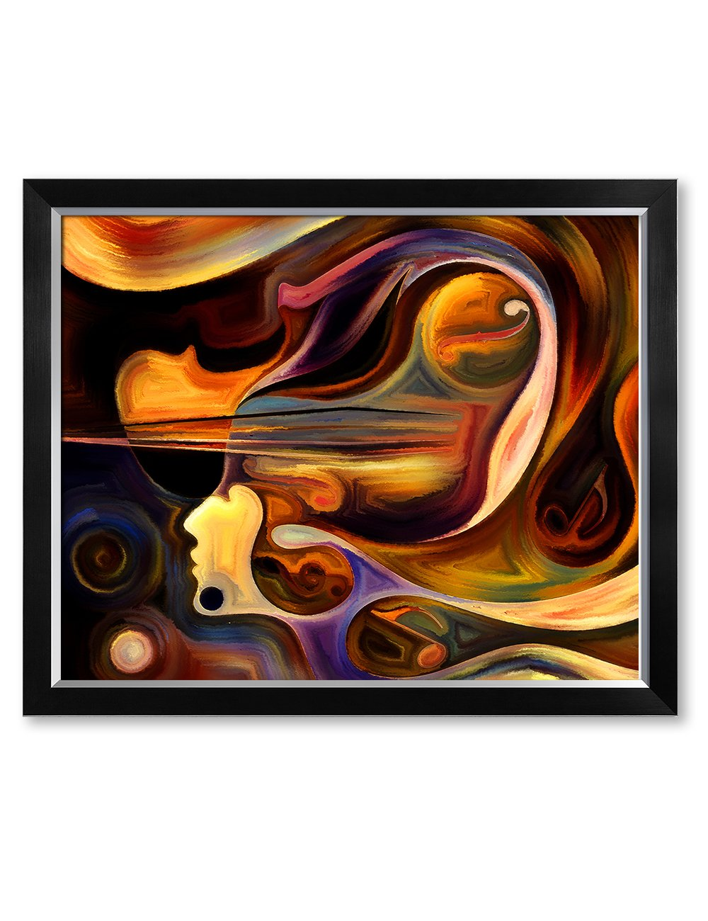 DecorArts - Abstract Art( Inner Melody series), Giclee Prints abstract modern canvas wall art for Wall Decor. 30x24'', Framed Size: 33x27''