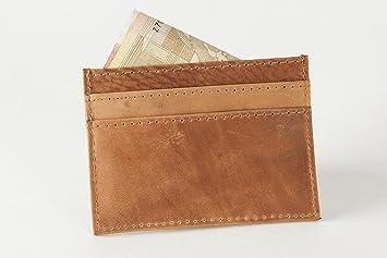 Holzrichter Berlin Visitenkartenetui Leder Handgefertigtes Etui In Braun Hochwertiges Portemonnaie Für Visitenkarten Und Kreditkarten