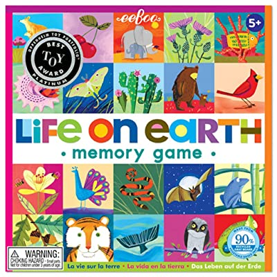 eeBoo Life on Earth Memory Matching Game for Kids: Toys & Games