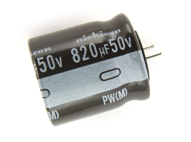 4pcs Nichicon PW 820uF 50v 105C Radial Electrolytic Capacitor Low Impedance
