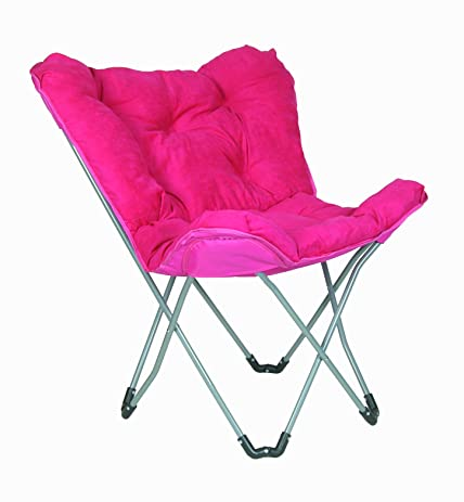 Beautiful Padded Butterfly Chair (Pink Microfiber)