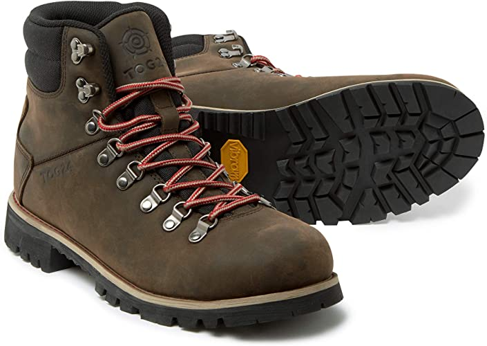 TOG 24 Ingleborough Mens Waterproof Walking Boots in Distressed Leather  with Vibram Sole Ideal for Trekking and Hiking: Amazon.co.uk: Shoes & Bags