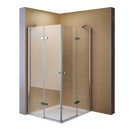 Corner Shower Corner Entry Shower Enclosure in Tempered Safety Glass ...