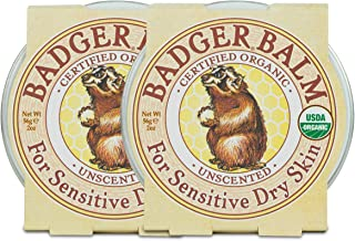 product image for Badger - Unscented Dry Skin Balm, Sensitive Skin Balm, Moisturizing Balm for Dry Cracked Skin, Unscented Balm, Skin Moisturizer Balm, 2 oz (2 Pack)