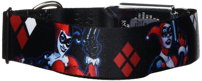 Buckle-Down DC-WJK010-WM Dog Collar Seatbelt Buckle, Black Red White, 1.5  by 16-23