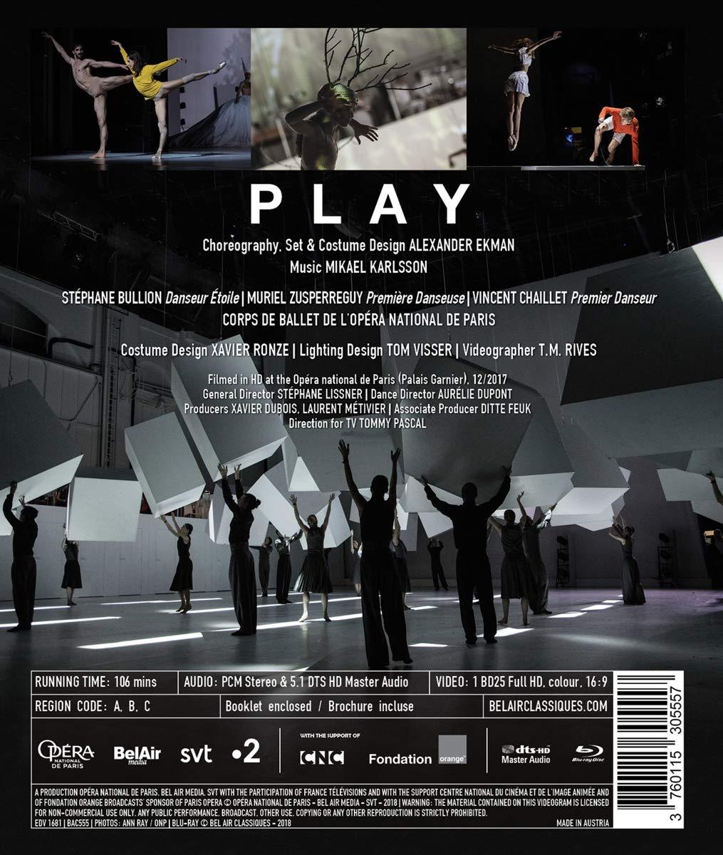Amazon.com: Alexander Ekman & Mikael Karlsson: Play: Alexander Ekman, Ballet de lOpera national de Paris, Callie Day, Mikael Karlsson, Muriel Zusperreguy, ...