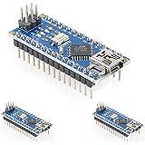 HiLetgo Nano V3.0 ATmega328P 5V 16M CH340 Arduinoと互換 Nano V3.0 (3個セット) [並行輸入品]