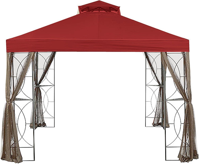 Garden Winds Replacement Canopy for The Callaway Gazebo - Riplock 350 - Cinnabar