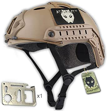 88194d63879 Fundas para accesorios DE estilo militar del ejército casco Fast SWAT DE  tipo PJ para sacar fotos DE Airsoft y Paintball: Amazon.es: Deportes y aire  libre