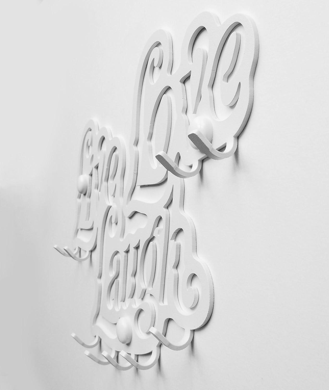 9- Ganci Decorativo Organizza le Chiavi di Casa Live Love Laugh Portachiavi da Muro Veicoli Garage Macchina Lavoro Cucina Arredamento Vintage Ganci in Metallo per Porta dingresso