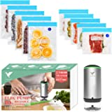 Food Vacuum Sealer, Vacbird Sous Vide Bags 10 Pack Reusable Food Storage Bags for Food Storage & Sous Vide Cooking