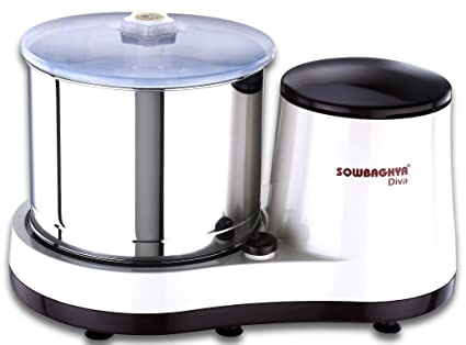 Sowbaghya 2 Lit Diva Wet Grinder (Cherry with White) with Attachment