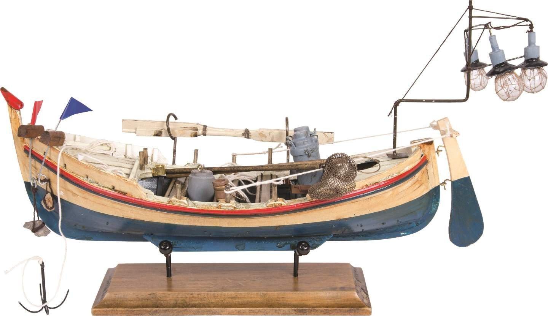 Batela Bot de Llums Modelo Barco, Azul/Amarillo