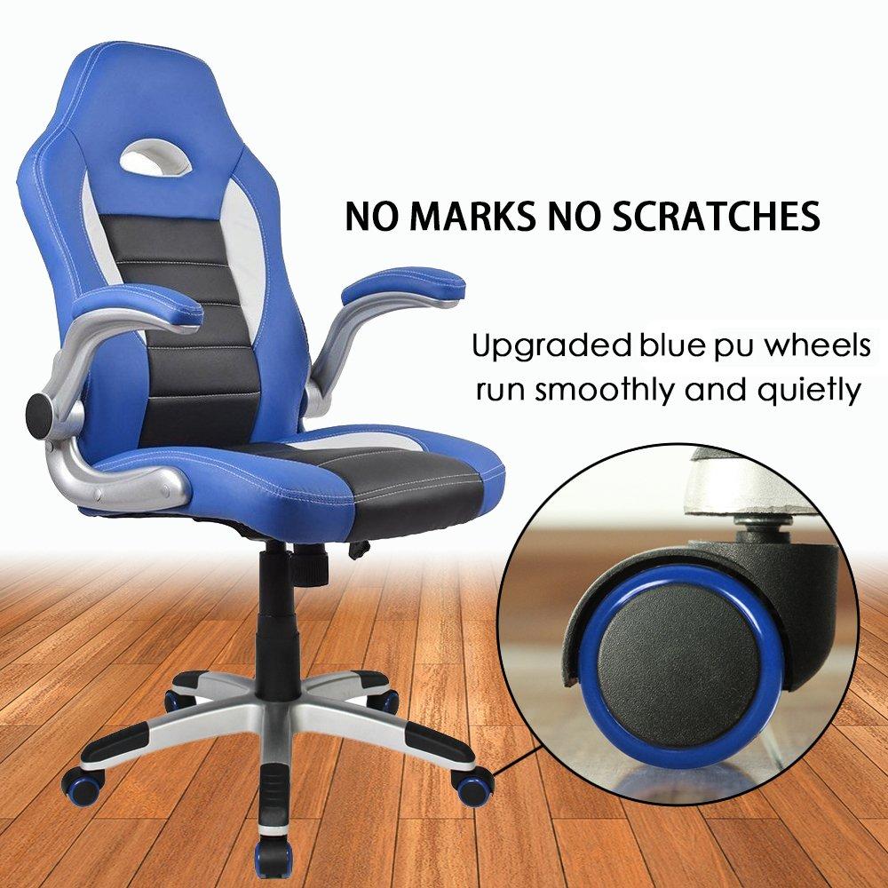 Homall Silla de oficina giratoria de estilo ejecutivo, respaldo alto, silla de juegos, asiento de piel sintética y malla, apoyo lumbar: Amazon.es: Oficina y ...