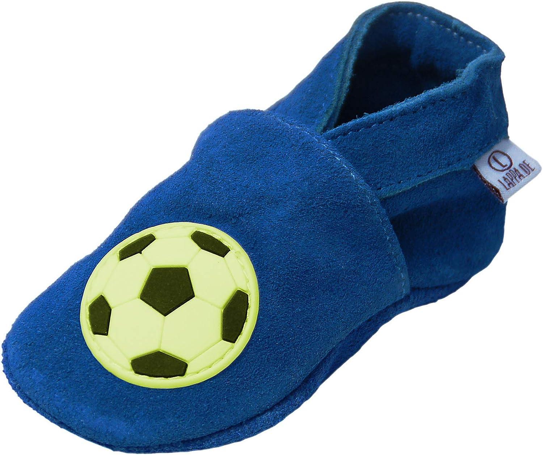 Weiche Sohle Leder Babyschuhe Hausschuhe Hallenfußball Marineblau 3-4y US