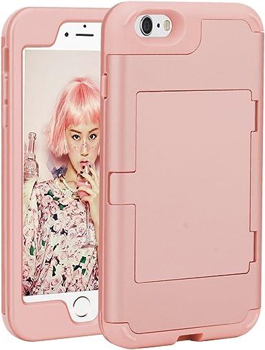 Bebegoo iPhone 6 Plus Coque, iPhone 6s Plus Case- [Heavy Duty] trois Couche hybride résistant aux chocs robuste Miroir et emplacement pour carte ...