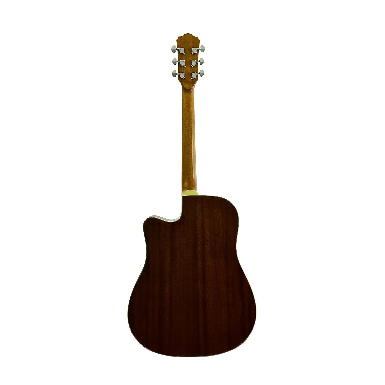 J & D guitarra eléctrica acústica, sólida tapa de pícea, madera de caoba parte trasera y laterales, acabado mate Natural, a bordo preamplificador: ...