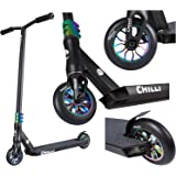 Chilli Reaper Complete Pro Scooter - Special Edition (Oil Slick) - Freestyle Stunt Scooter for kids, teens, adults - Aluminum Deck and Fork, 4130 Chromoly T Bar, 3-Bolt Clamp, 110mm Urethane Wheels