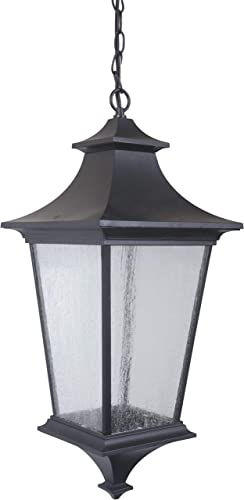 Craftmade Z1371-MN Argent II Outdoor Pendant Light, 3-Light, 180 Watts, Midnight 10 W x 24 H