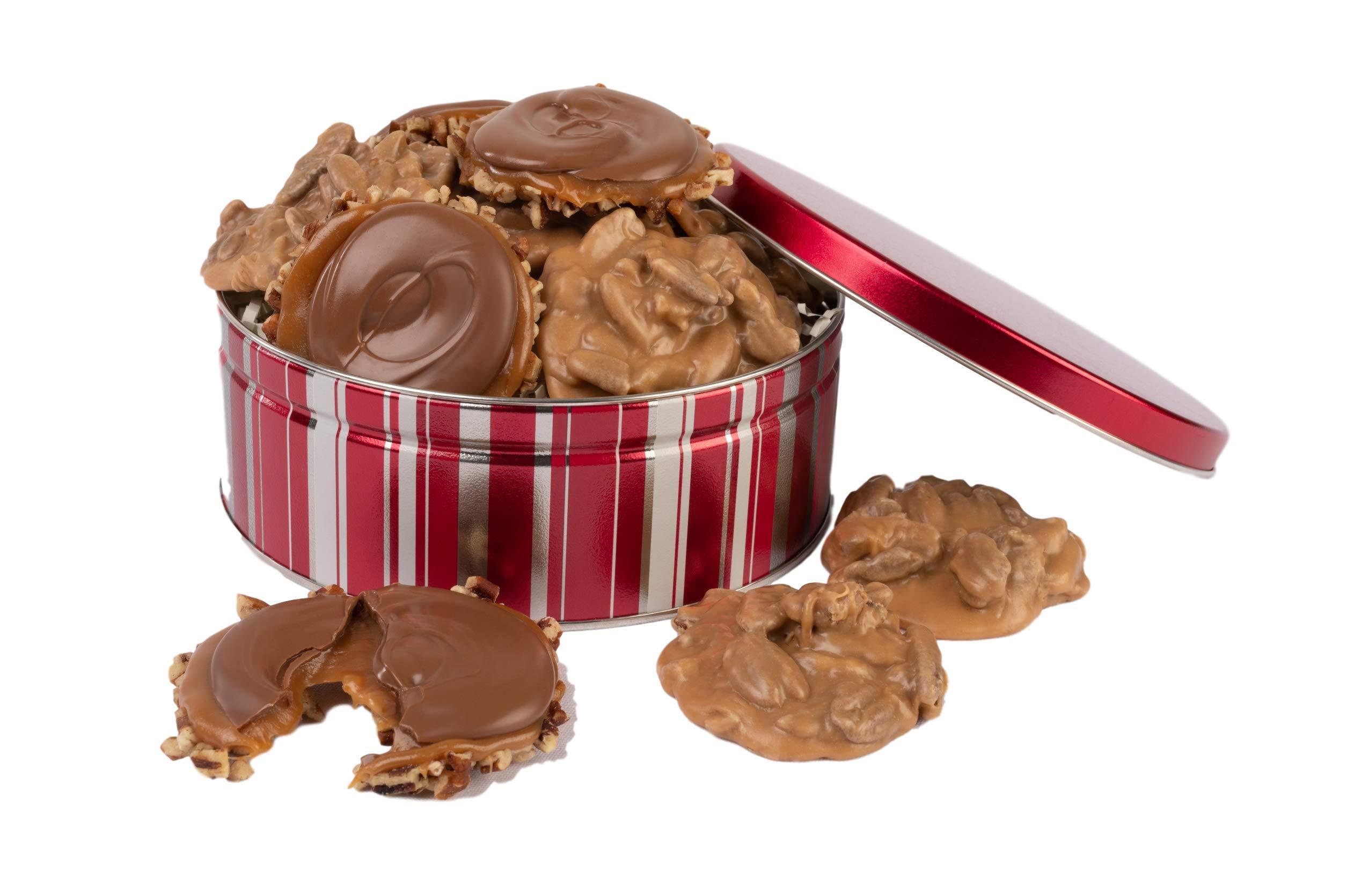 Savannah Candy Kitchen | Praline & Milk Chocolate Turtle Gophers Assortment Gift Tin by Savannah's Candy Kitchen