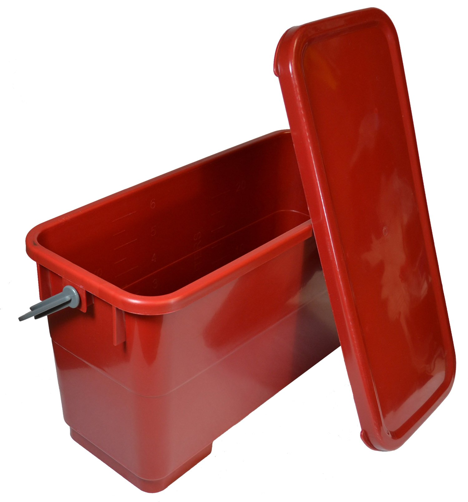 Golden Star MBU16SEALR Microfiber Charging Bucket, Red