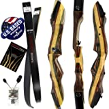 "Southwest Archery Tigershark Takedown Recurve Bow – 62"" Recurve Hunting Bow – Right & Left Hand – Draw Weights in 25-60 lbs – USA Based Company – Perfect for Beginner to Pro"