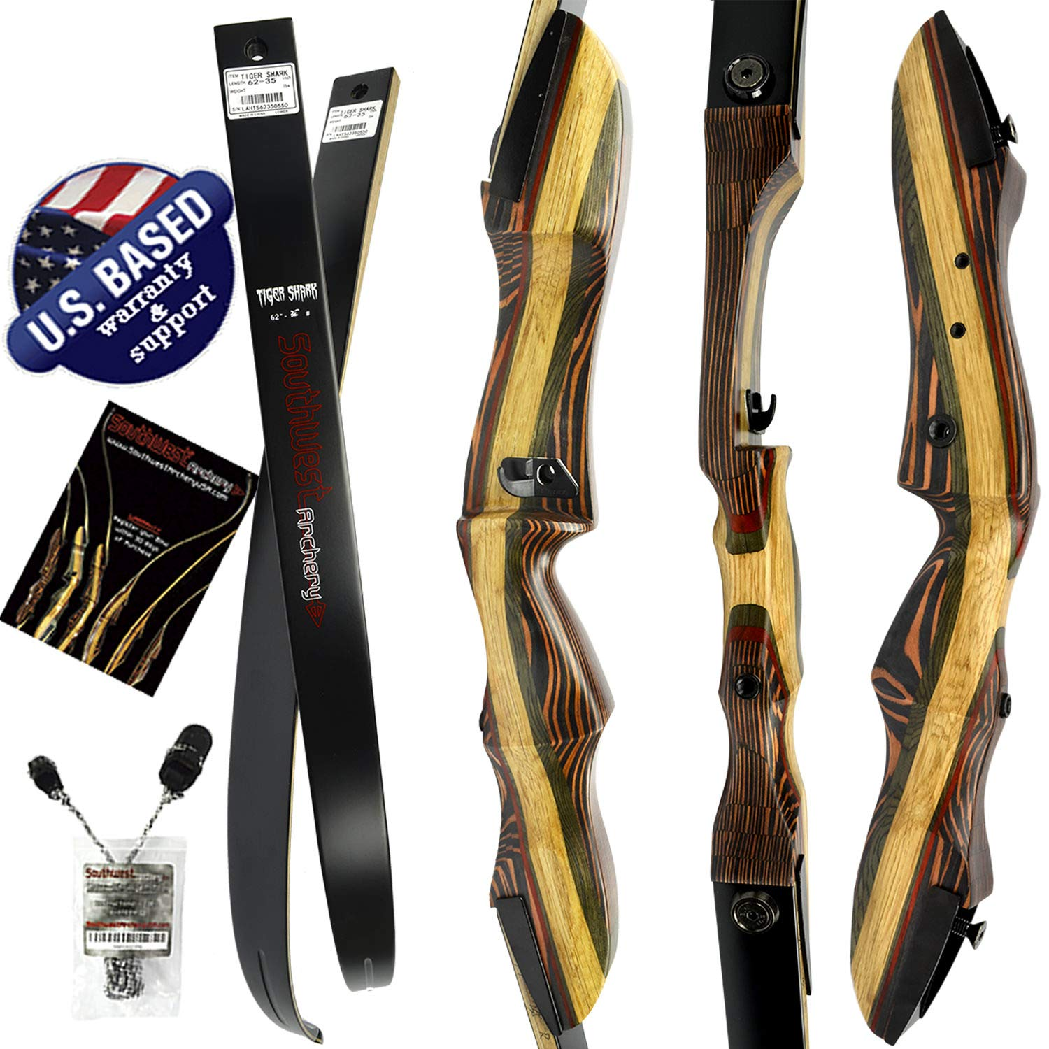 Southwest Archery Tigershark Takedown Recurve Bow - Standard, 25L W/Stringer