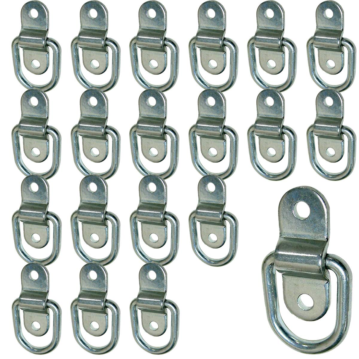 Stainless Steel D-ring Tiedowns 3,500 lb. Capacity Tie Down Anchor - 20 Pack