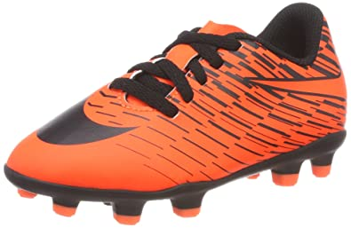 9b3a80aed2f0 Nike Kids' JR Bravata II FG Football Boots, Orange Crimson/Black-Hyper