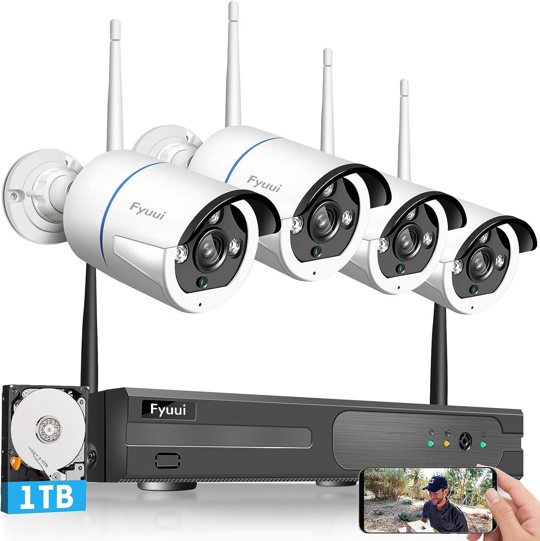 Fyuui 1080p 8 Channel Wireless Surveillance