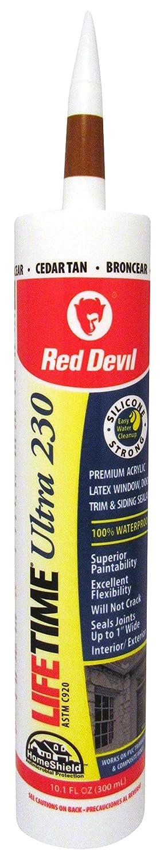Red Devil 0777 Lifetime Ultra Premium Elastomeric Acrylic Latex Sealant, Clear, 10.1-Ounce