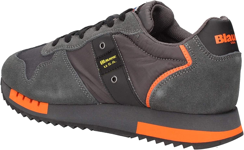 Scarpe Blauer Sneaker Running mod. Queens in Suede/Tessuto Nero/Giallo U21BU04 Dark Grey eIzGw 44AZK