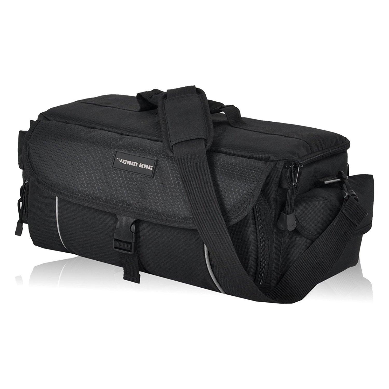 Kameratasche CAMBAG Fototasche Video D-SLR Kamera mit Wechselobjektive und Zubehör, Grösse M - XL Schwarz AUSWAHL (Cambridge - XL) 720