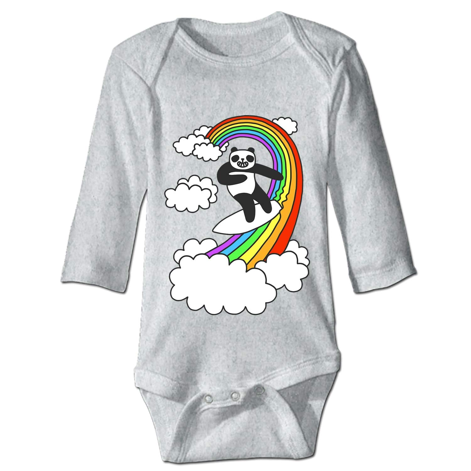 Rainbow Panda Funny Cute Novelty Infant One-Piece Baby Bodysuit