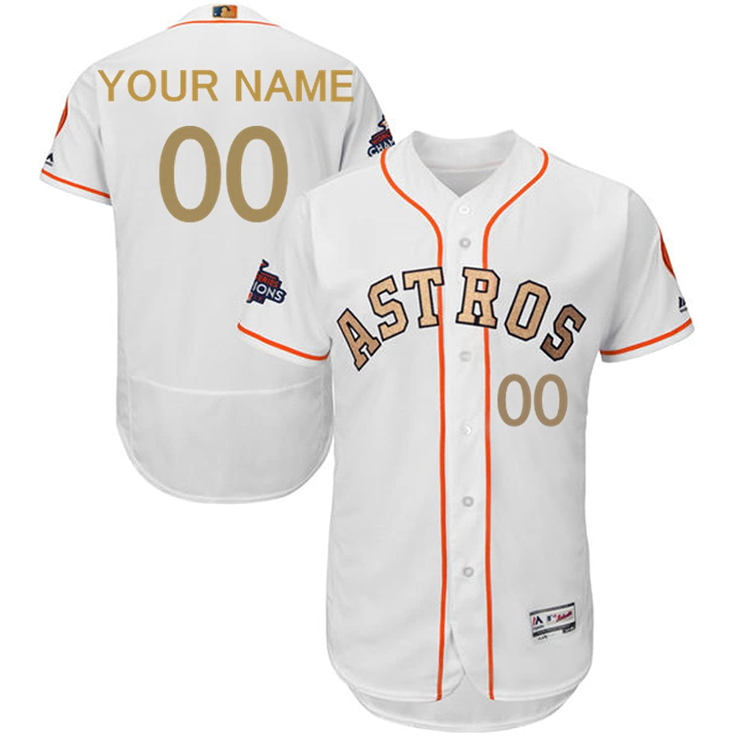 58ae2508c Majestic Athletic Men s Houston Astros Any Name Any Number Custom Home  Baseball Jersey - White