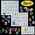 Palksky - Moldes de resina con letras pequeñas, 3 unidades, diseño de números de silicona y epoxi, para llaveros, arete, joyas, caramelos de caramelo de gominola, decoración de tartas, decoración
