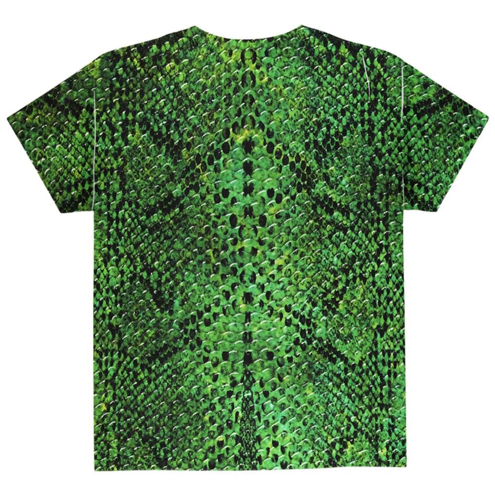 8f5655aed4b85 Animal World Halloween Green Snake Snakeskin Costume All Over Youth T Shirt