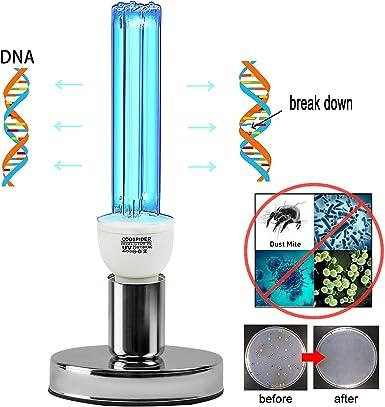 Desinfecci/ón UV L/ámpara germicida con ozono 8W 220V Temporizador utilizado para armario de cocina Loft Keller Coop Pet House Farm Elimina los malos olores