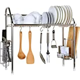 Drying Rack, Creatwo Stainless Dish Rack Adjustable Kitchen Organizer for Drying Plates, Bowls, Tableware