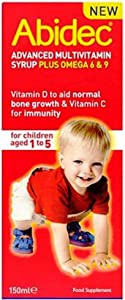 Abidec Multivitamin Syrup With Omega 3 - 150ml ( Flavor may vary -- Raspberry Flavor Or Lemon Flavour ) -Pack-2