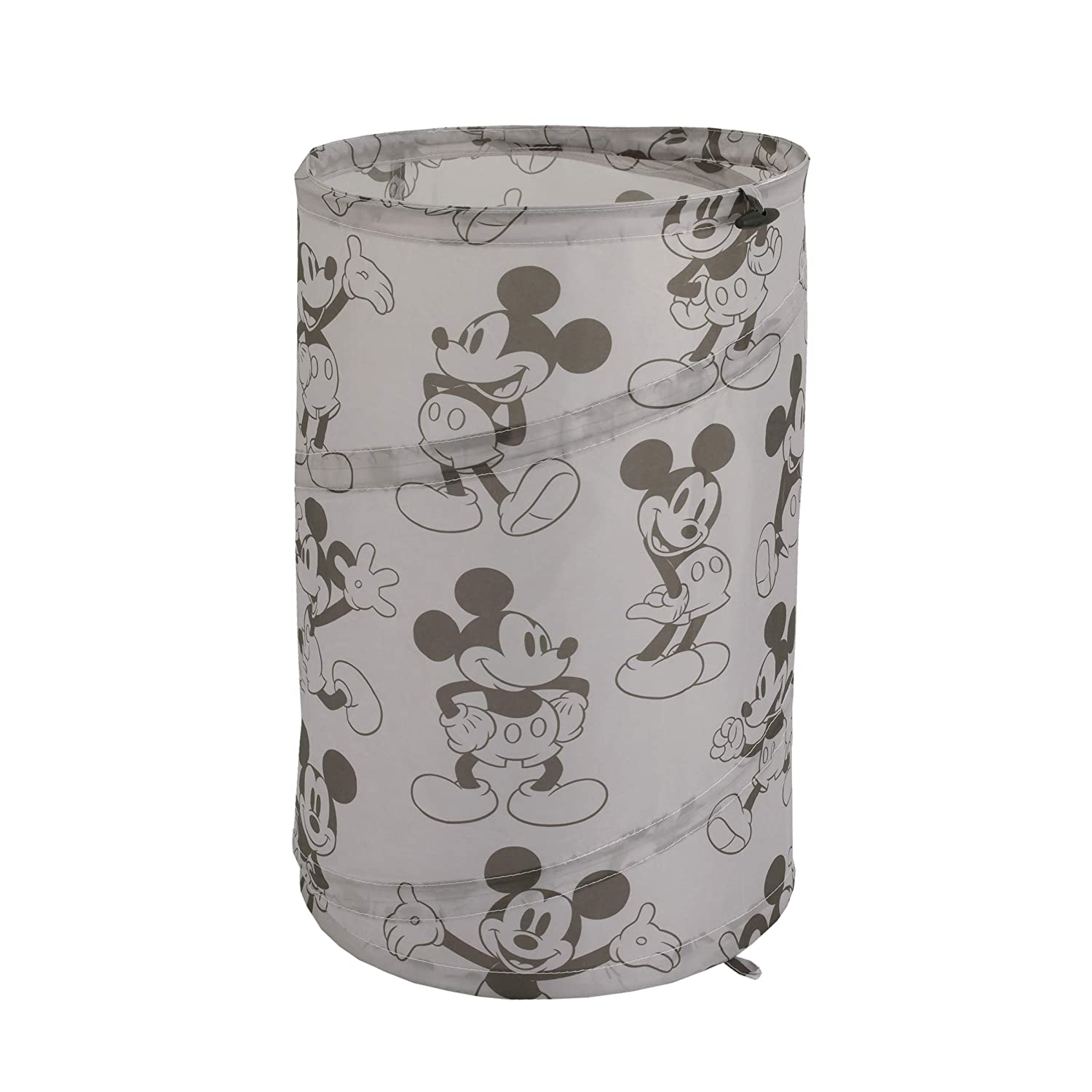 Disney Mickey Mouse Round Pop-Up Hamper, Grey/Black