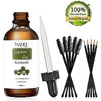 Bio Rizinusöl Kaltgepresstes für Haut Haare Wimpern Bart Augenbrauen Castor Oil 100% Reines Natürliches Veganes Hexanfreies Gentechnikfreies Öl 120ml