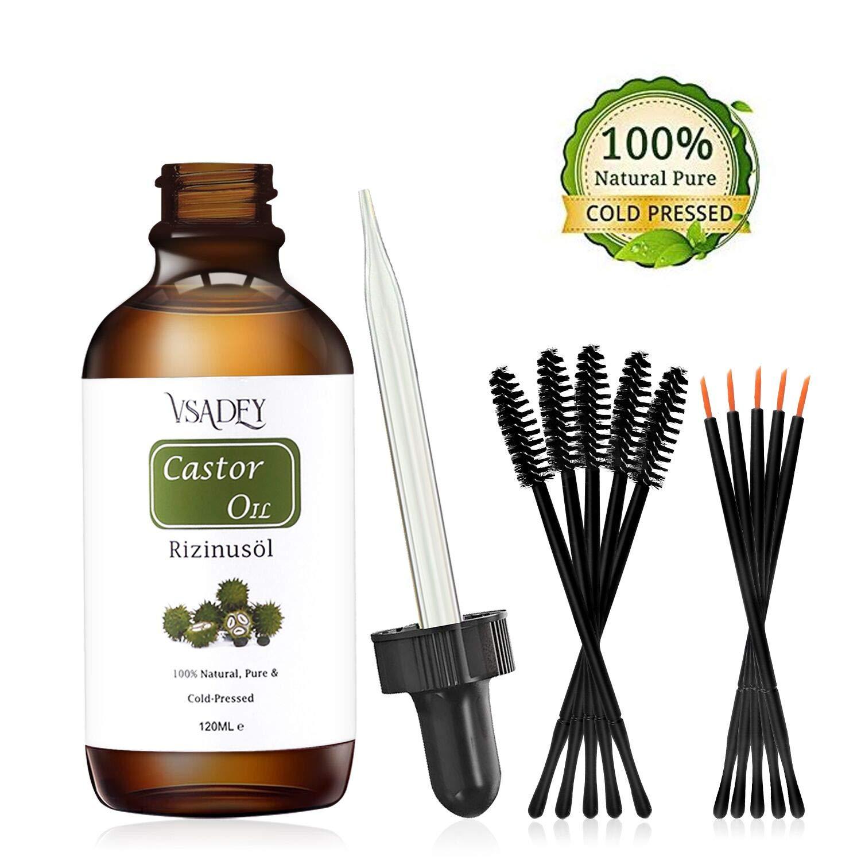 36447851a6b6 VSADEY Aceite de Ricino Orgánico 100% Natural Castor Oil Aceite de Ricino  100% Puro