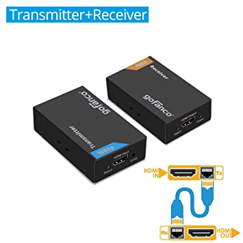 Amazon gofanco 165ft hdmi extender 1080p over a single cat5e gofanco 165ft hdmi extender 1080p over a single cat5ecat6cat7 ethernet cable sciox Images