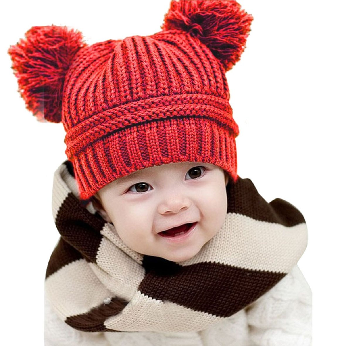 Pom pom accessories winter for little girls