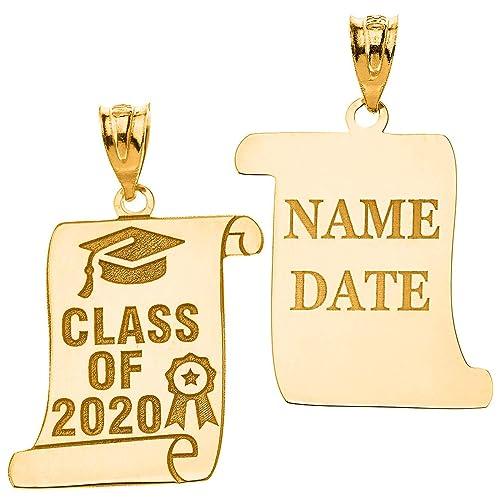 Class Of 2020 Graduation Date.Amazon Com Certified 14k Yellow Gold Personalized Cap