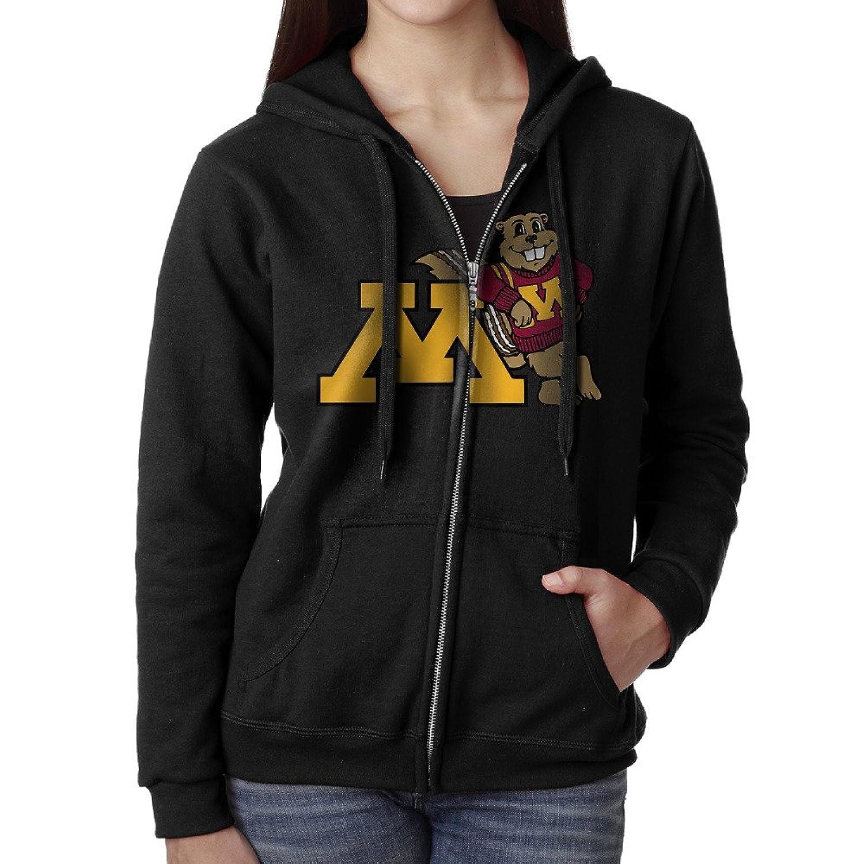 detailed look c979d 922c1 hot sale 2017 Women NCAA Minnesota Golden Gophers Logo Hoodie Sweatshirt  Black