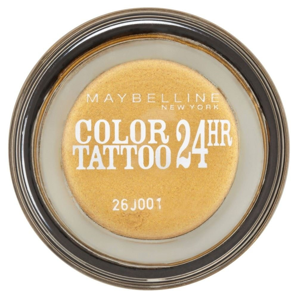 Maybelline Expression Color Tattoo 24hr Eye Shadow - 25k Gold - Pack of 6
