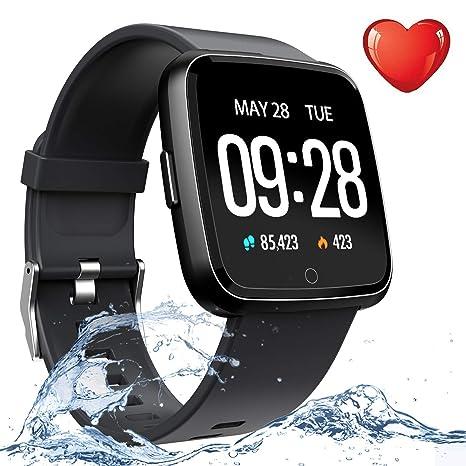 Sport Fitness Tracker Smart Watch Phone for Men Women Kids- IP67 Waterproof Heart Rate HR Monitor Blood Pressure Sleep Monitor Pedometer Smart ...